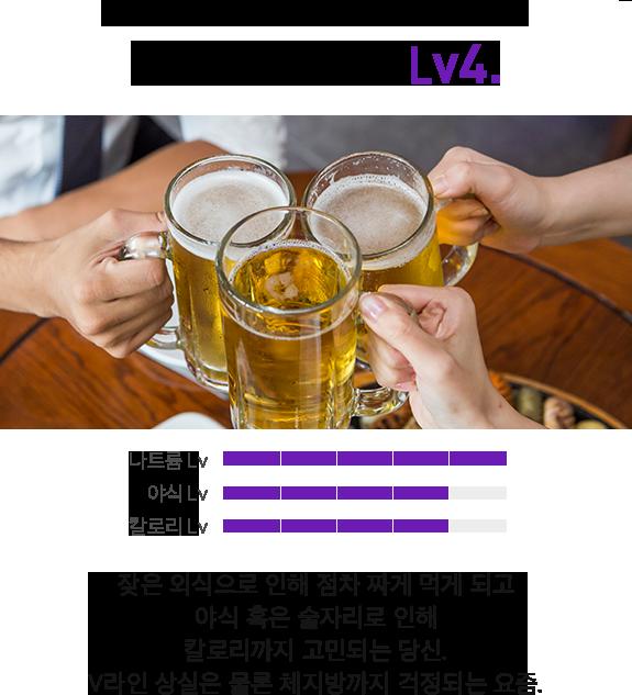 V라인 위험도 LV.4